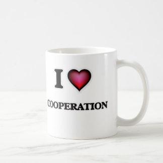 Caneca De Café Eu amo a cooperação