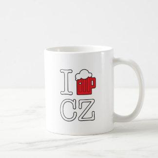 Caneca De Café Eu amo a CZ