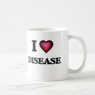 Caneca De Café Eu amo a doença
