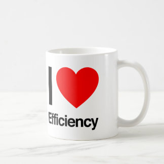Caneca De Café eu amo a eficiência