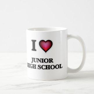 Caneca De Café Eu amo a escola secundária