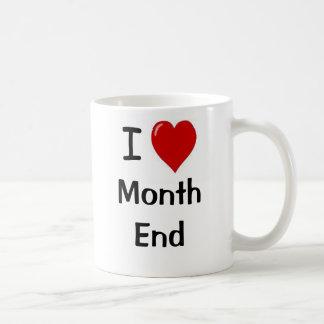 Caneca De Café Eu amo a extremidade de mês - extremidade de mês