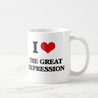 Caneca De Café Eu amo a Grande Depressão