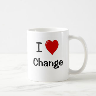 Caneca De Café Eu amo a mudança - mude o amor de I