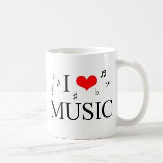 Caneca De Café Eu amo a música