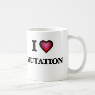 Caneca De Café Eu amo a mutação