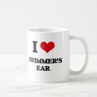Caneca De Café Eu amo a orelha dos nadadores