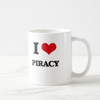 Caneca De Café Eu amo a pirataria