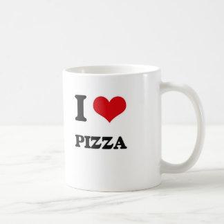 Caneca De Café Eu amo a pizza
