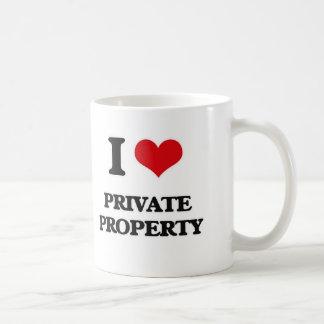 Caneca De Café Eu amo a propriedade privada