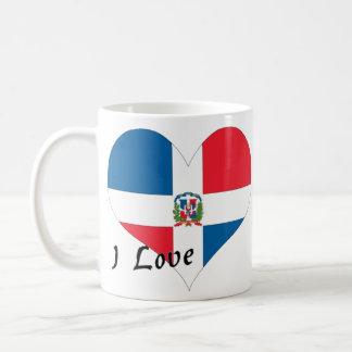 Caneca De Café Eu amo a República Dominicana