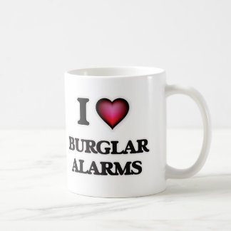 Caneca De Café Eu amo alarmes de assaltante