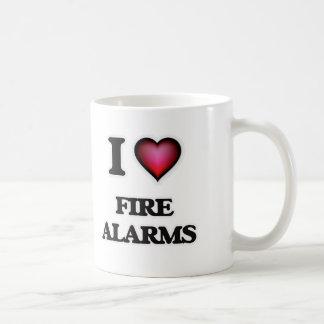 Caneca De Café Eu amo alarmes de incêndio