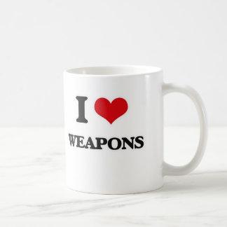 Caneca De Café Eu amo armas