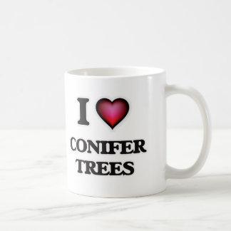 Caneca De Café Eu amo árvores das coníferas