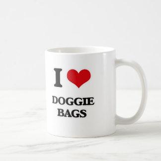 Caneca De Café Eu amo as bolsas de cachorrinho