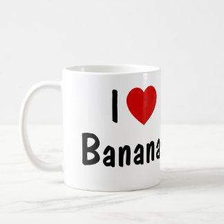 Caneca De Café Eu amo bananas