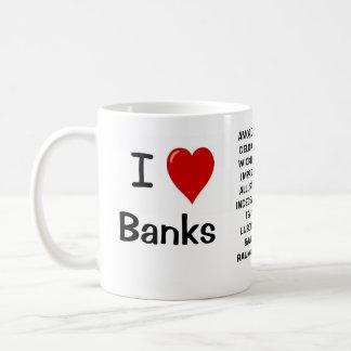 Caneca De Café Eu amo bancos que eu amo bancos - razões rudes