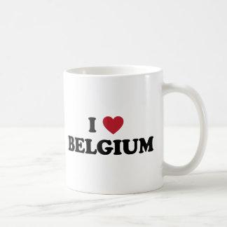 Caneca De Café Eu amo Bélgica