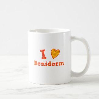 Caneca De Café Eu amo Benidorm