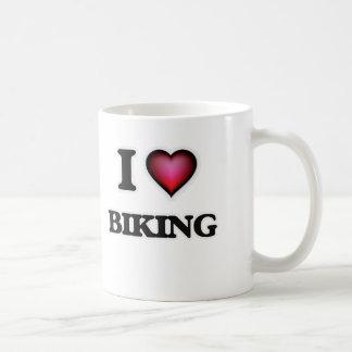 Caneca De Café Eu amo Biking