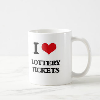Caneca De Café Eu amo bilhetes de lotaria