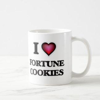 Caneca De Café Eu amo biscoitos de fortuna