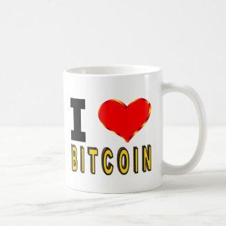 Caneca De Café Eu amo Bitcoin