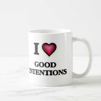 Caneca De Café Eu amo boas intenções