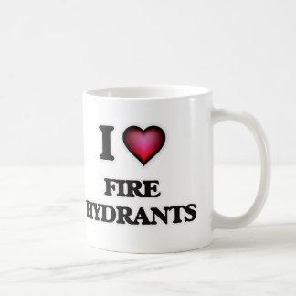 Caneca De Café Eu amo boca de incêndio de fogo