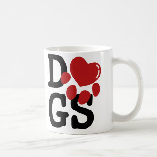 Caneca De Café Eu amo cães