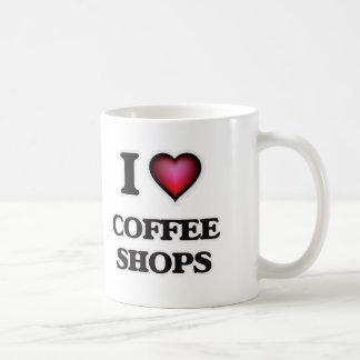 Caneca De Café Eu amo cafetarias