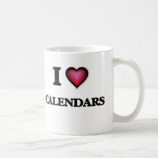 Caneca De Café Eu amo calendários