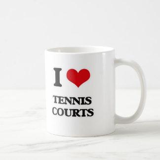 Caneca De Café Eu amo campos de ténis