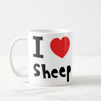 Caneca De Café Eu amo carneiros