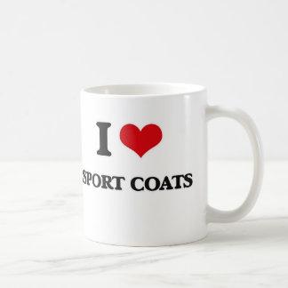 Caneca De Café Eu amo casacos de esporte