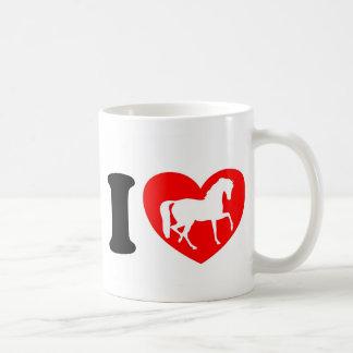 Caneca De Café Eu amo cavalos