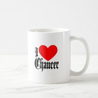 Caneca De Café Eu amo Chaucer