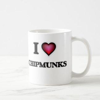 Caneca De Café Eu amo Chipmunks