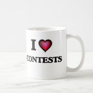 Caneca De Café Eu amo competições
