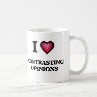 Caneca De Café Eu amo contrastar opiniões