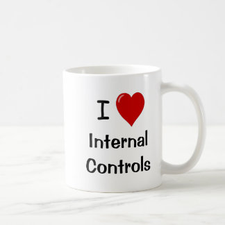 Caneca De Café Eu amo controles internos mim controles internos