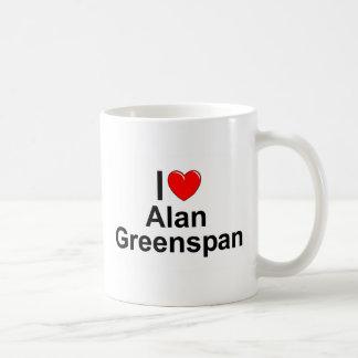 Caneca De Café Eu amo (coração) Alan Greenspan