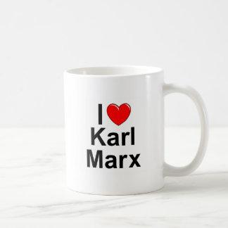 Caneca De Café Eu amo (coração) Karl Marx