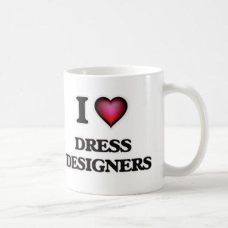 Caneca De Café Eu amo desenhistas do vestido