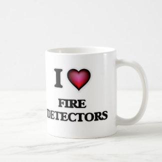 Caneca De Café Eu amo detectores de fogo