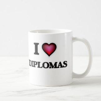 Caneca De Café Eu amo diplomas