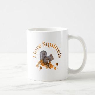 Caneca De Café Eu amo esquilos