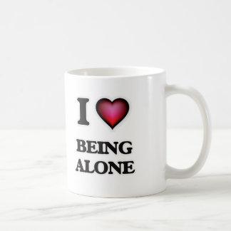 Caneca De Café Eu amo estar sozinho