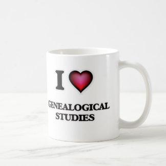 Caneca De Café Eu amo estudos genealógicos